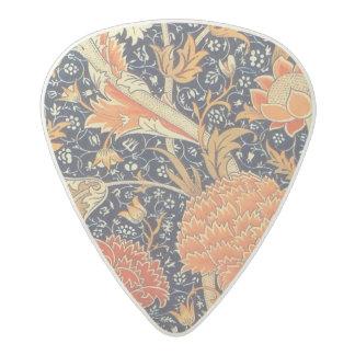 ウィリアム・モリスCray花のアールヌーボーのパターン アセタール ギターピック
