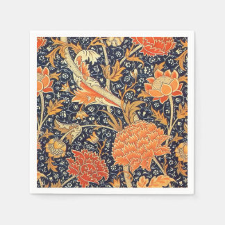 ウィリアム・モリスCray花のアールヌーボーのパターン スタンダードカクテルナプキン