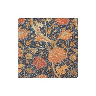 ウィリアム・モリスCray花のアールヌーボーのパターン ストーンマグネット