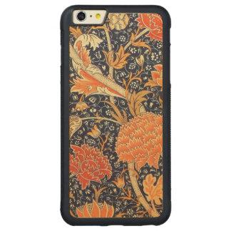 ウィリアム・モリスCray花のアールヌーボーのパターン CarvedメープルiPhone 6 Plusバンパーケース