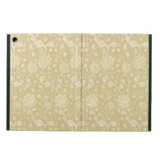 ウィリアム・モリスIpadの例によるベージュ色の花パターン