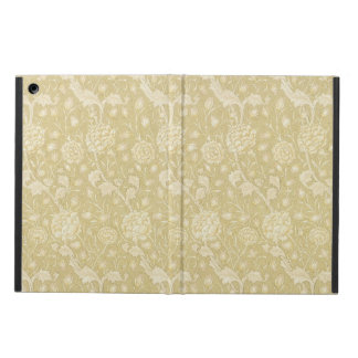 ウィリアム・モリスIpadの例によるベージュ色の花パターン iPad Airケース