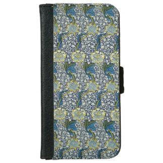 ウィリアム・モリスKennetパターン(青い) iPhone 6/6s ウォレットケース