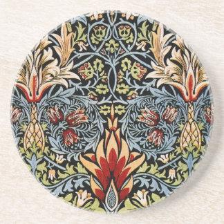 ウィリアム・モリスSnakesheadの花柄 コースター