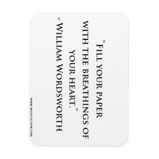 ウィリアム・ワーズワースの引用文の磁石 マグネット