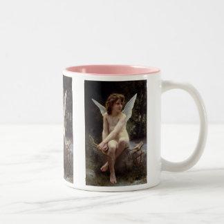 ウィリアムBouguereau著眺望の愛 ツートーンマグカップ