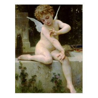 ウィリアムBouguereau著蝶を持つキューピッド ポストカード