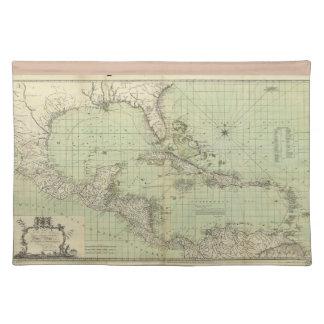ウィリアムGuthrie (1777年)著西インド諸島の地図 ランチョンマット