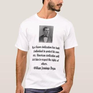 ウィリアムJennings Bryanのアングロサクソンのcivilizatio… Tシャツ
