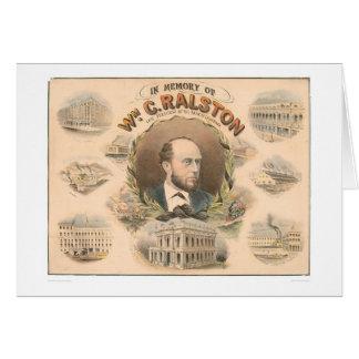 、ウィリアムRalston CA. (1384A)の銀行の大統領 カード