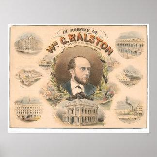 、ウィリアムRalston CA. (1384A)の銀行の大統領 ポスター