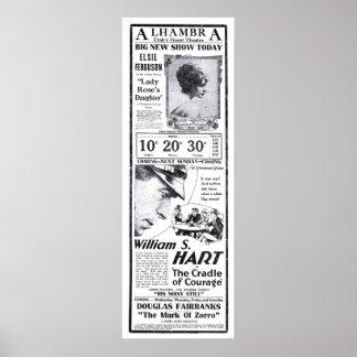 ウィリアムS. Hartの1920年のヴィンテージ映画広告ポスター ポスター