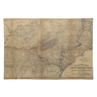 ウィリアムT.シャーマンMarchesの軍の地図1863 64 65 ランチョンマット