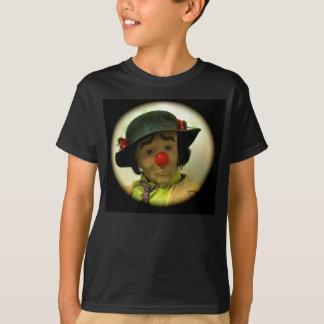 ウィリー疲労した悲しいFClownのTシャツ、子供の黒い媒体 Tシャツ