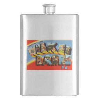 ウィルクスバレペンシルバニアPA古い旅行記念品 フラスク