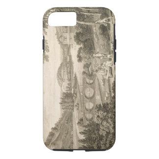 ウィルトシャー(版木、銅版、版画)のStourの頭部の概観 iPhone 8/7ケース