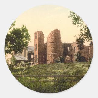 ウィルトンの城、ロスY字状回路、Herefordshire、イギリス ラウンドシール