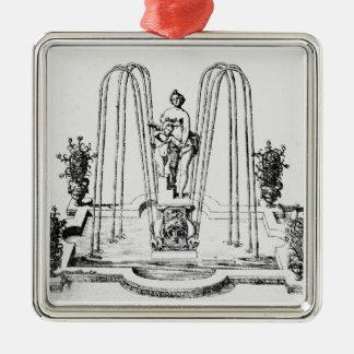 「ウィルトンの庭」からの噴水のデザイン、c.16 メタルオーナメント