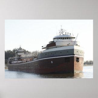 ウィルフレッドSYKESのバルク貨物船 ポスター