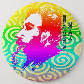 ウィルヘルムC. Roentgen Rainbowはボタンを着色します 15.2cm 丸型バッジ