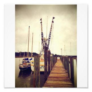 ウィルミントンのエビのボート フォトプリント