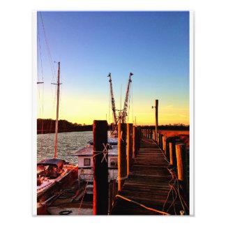 ウィルミントンの島のエビのボート フォトプリント