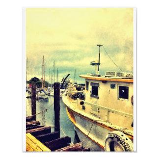 ウィルミントンの島のボートの波止場 フォトプリント