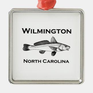 ウィルミントンノースカロライナの海の魚 メタルオーナメント