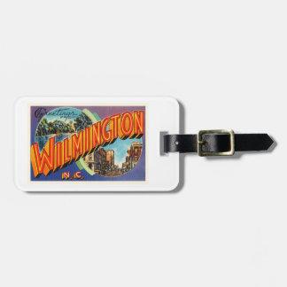 ウィルミントン#2ノースカロライナNCのヴィンテージの郵便はがき ラゲッジタグ