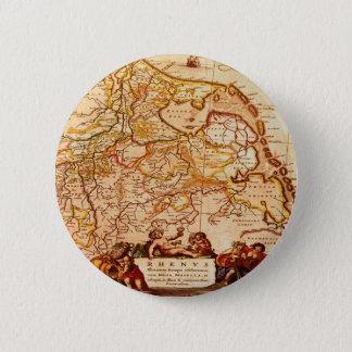 ウィレムBlaeu古いラインランドのドイツの地図シリーズ 5.7cm 丸型バッジ