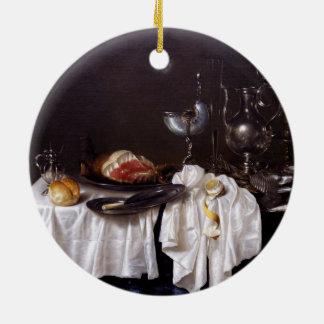 ウィレムHeda 1654年著オウムガイのコップが付いている静物画 セラミックオーナメント
