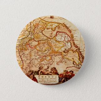 ウィレムJanszoon Blaeuの古いドイツの地図コレクション 5.7cm 丸型バッジ