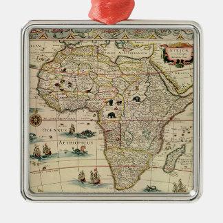 ウィレムJanszoon Blaeu著ヴィンテージの1660年代のアフリカの地図 メタルオーナメント