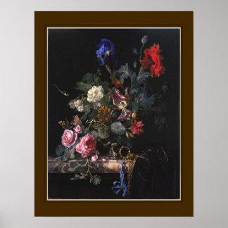 ウィレムvan Aelst、「Watchの花 ポスター