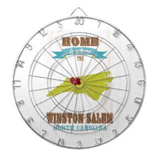 ウィンストンセーレム、ノースカロライナの地図-どこであります家 ダーツボード