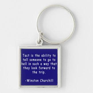 ウィンストン・チャーチルの引用文Keychain キーホルダー