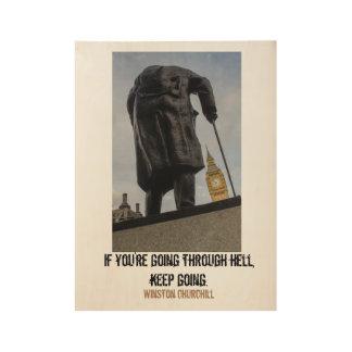 ウィンストン・チャーチルの有名な引用文およびビッグベン ウッドポスター