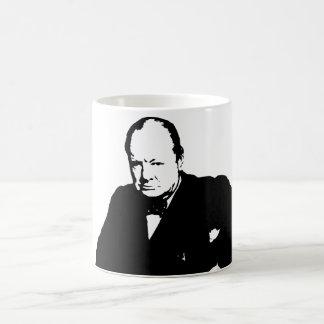 ウィンストン・チャーチル -- 白黒 コーヒーマグカップ