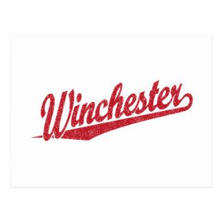 ウィンチェスターの動揺してな赤 ポストカード