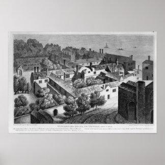 ウィンチェスターの家、約1649年にSouthwark ポスター