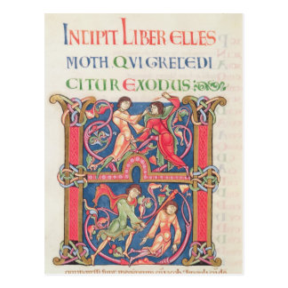 ウィンチェスターの聖書からのページ、c.1150-80 ポストカード