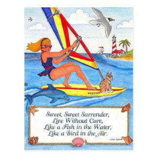 ウィンドサーファーの郵便はがき ポストカード