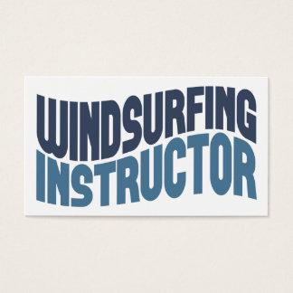 ウィンドサーフィンをするインストラクターの名刺 名刺