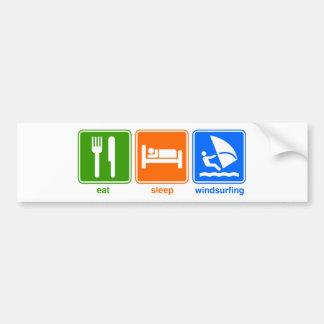 ウィンドサーフィンをする睡眠を食べて下さい バンパーステッカー