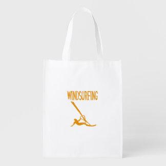 ウィンドサーフィンをするv3オレンジ文字のスポーツcopy.pngc エコバッグ