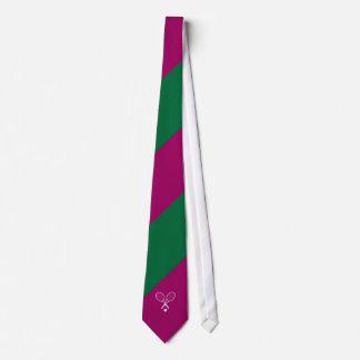 ウィンブルドンの緑の紫色のタイ ネクタイ