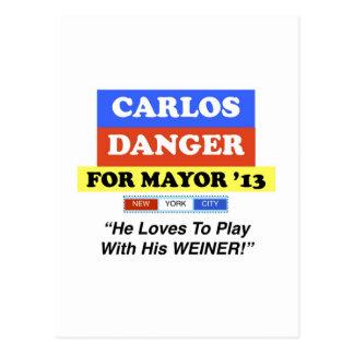 ウィーナーの市長の演劇のためのNYCカーロスの危険 ポストカード