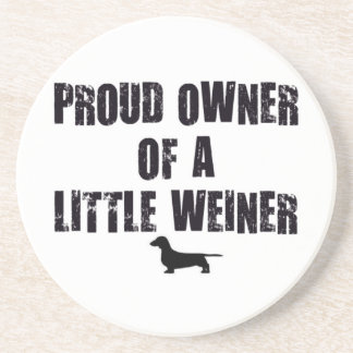 ウィーナー犬の誇りを持ったな所有者 コースター