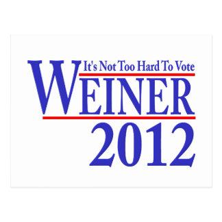 ウィーナー2012年を投票することは余りにも困難ではないです ポストカード