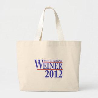 ウィーナー2012年を投票することは余りにも困難ではないです ラージトートバッグ